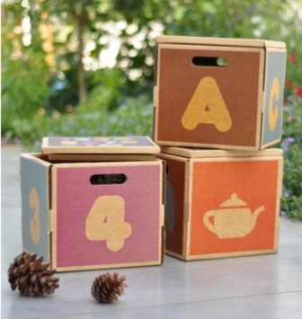 Multibox - Natural childs seat, storage box, and learning tool - Abe's Market | traditional-toy-organizers