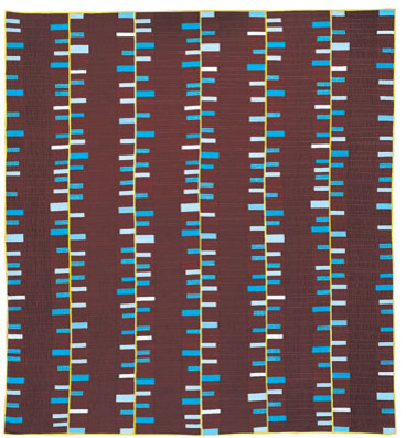 Run & Fall, Chocolate Queen Quilt modern-quilts
