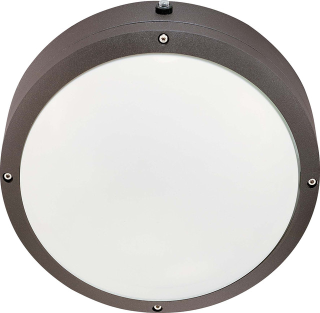 Round Exterior Wall Lights : Nuvo Lighting 60-2542 Hudson ES 2-Light 13W Gu24 10 Round Wall/Ceiling Fixture - Transitional ...