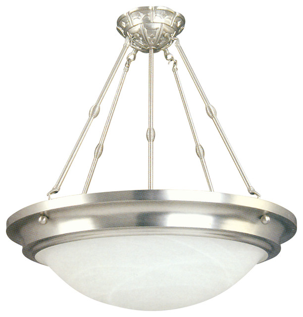 5 Lights Pendant Lighting In Satin Nickel Finish Contemporary Pendant Lighting By Yosemite