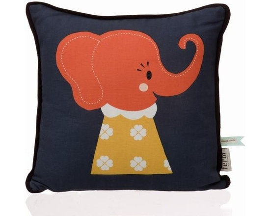 Ferm Living Organic Elle Elephant Pillow - Ferm Living Organic Elle Elephant Pillow