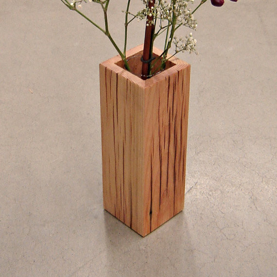 rustic reclaimed wood vase by andrew 39 s reclaimed