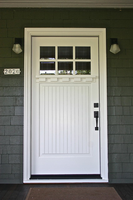 Se portland mt tabor craftsman front doors for Front door with window