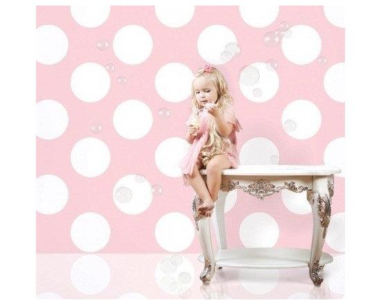 Wallcandy Arts Polka Dot Pink/White - Wallcandy Arts Polka Dot Pink/White