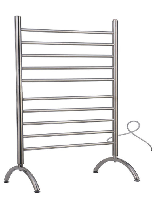Amba - Free Standing 33x38 Electric Heated Towel Warmer, Brushed - Freestanding towel warmer