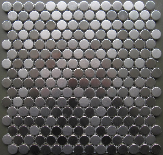 1500SF Stainless Steel Penny Round Metal Mosaic Tile