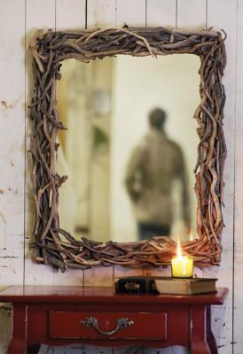 driftwood mirror traditional