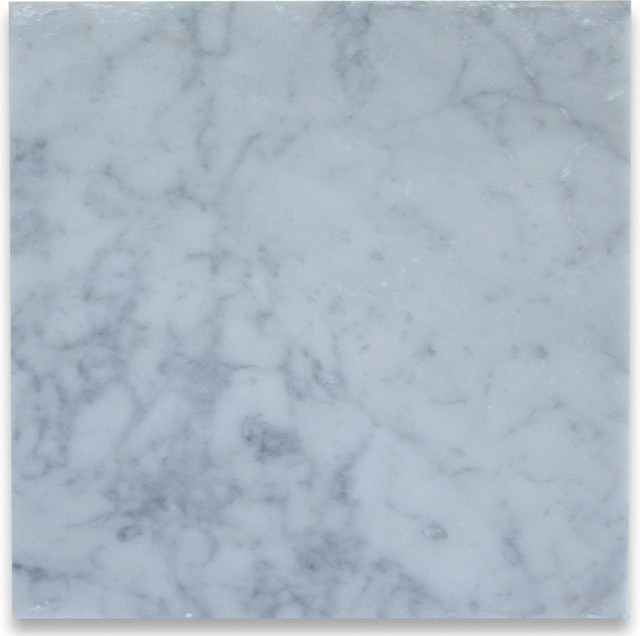 Carrara white 12 x 12 tile honed marble from italy for 12x12 floor tile designs