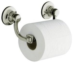 KOHLER K-11415-SN Bancroft Toilet Tissue Holder in Polished Nickel - Traditional - Toilet Paper ...