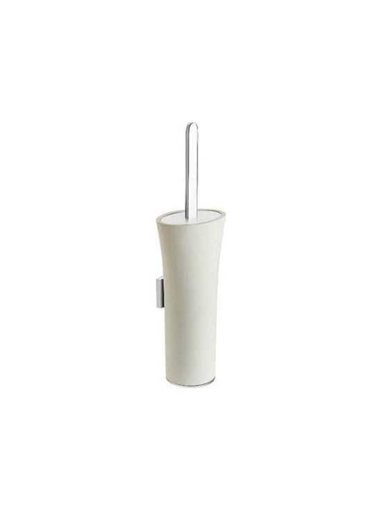 WS Bath Collections - Wall Mount Toilet Brush Holder - Modern/contemporary design. Designer high end quality bathroom accessories. Premium quality: Avant-garde. Warranty: One year. Made from solid brass base. Polished chrome and matt white finish. Made in Spain. No assembly required. 4.9 in. W x 3.9 in. D x 16.9 in. H (10 lbs.)Belle from Pom Dor Spain the very well known brand name for premium and high-end bathroom furnishings; unique and fine bath complements, and accessories of various designs and materials; wood, chrome, gold, stainless steel, glass, and other possibilities, that provide inspirational solutions for every decor.