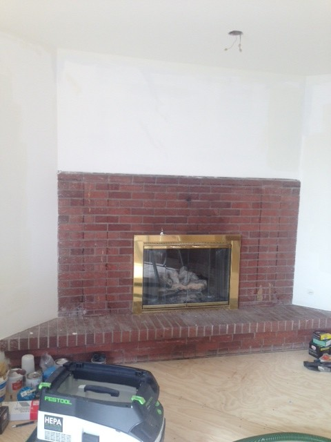 Fireplace Help How To Remove Stain Construction Adhesive From Brick
