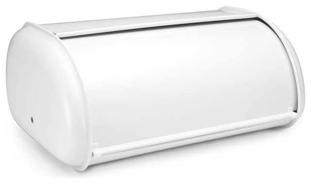 Deluxe Bread Bin, White - Contemporary - Bread Boxes - by ...