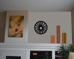 Arrangement with Clock contemporary-interior-elevation