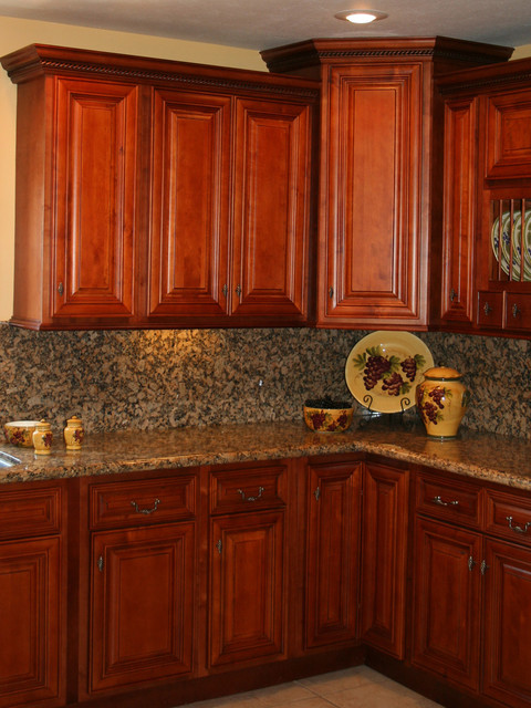Cherry Kitchen Cabinets Home Design - Traditional - Kitchen Cabinetry ...