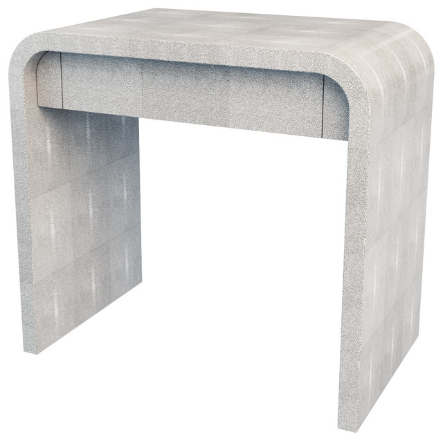 Shagreen Bedside Table modern-side-tables-and-end-tables