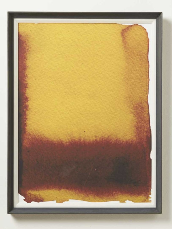 Viva Terra - Gold Fade - Limited edition, watercolor print on Somerset watercolor paper. A richly pigmented abstract ink, this work is a pure exploration of color, light, and contrast. Embossed and framed in hand-treated, house- designed framing. 20�W x 27�L x 2�D