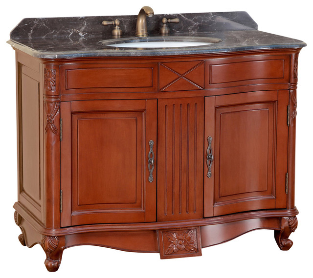 """42"""" T-3687 Classic Single Vanity - Antique Red traditional-bathroom-vanities-and-sink-consoles"""