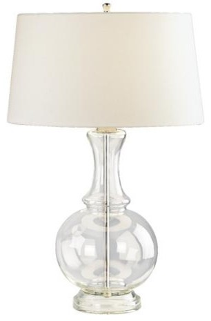 Harriet Clear Glass Table Lamp modern table lamps
