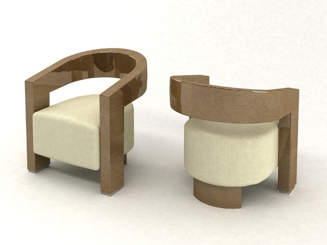 ocean parchment lounge chairs - contemporary - chairs - miami - by
