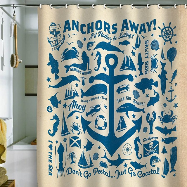 Deny Designs Anderson Design Group Anchors Away Fabric Shower Curtain contemporary-shower-curtains