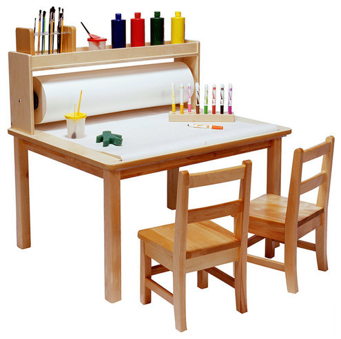 Paper roll for arts and crafts table modern kids for Children s craft table