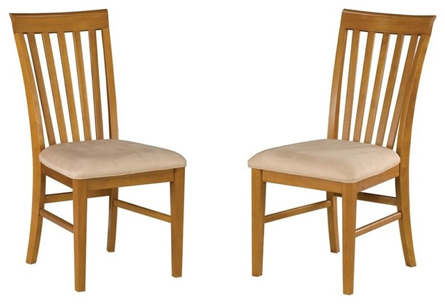Atlantic Furniture Mission Side Chair in Caramel Latte (Set of 2) transitional-dining-chairs