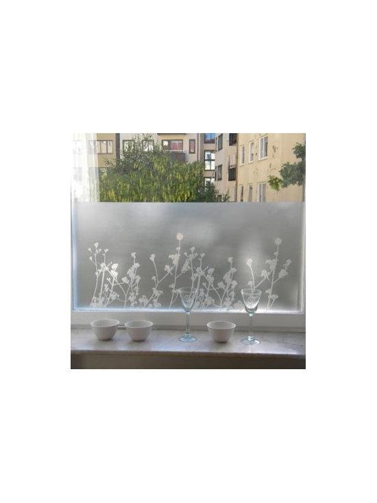 Sotsak/Maria Liv - Window Film/Privacy Film Ester (Flowers) - Beautiful and fun decorative window privacy/screen static cling film.