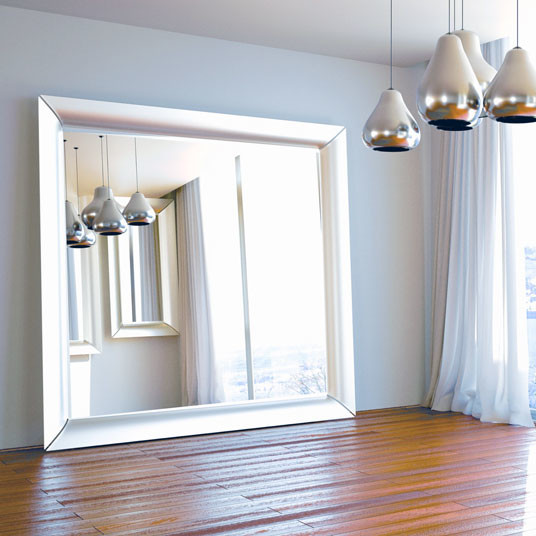 Oversized Silver Floor Mirror Contemporary