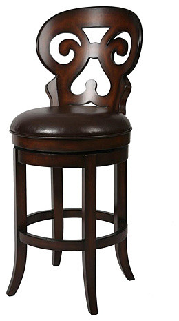Hermosa 26-inch Wood Swivel Counter Stool contemporary-bar-stools-and-counter-stools