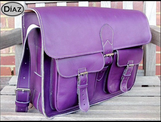 ... Leather Cross BodyShoulder Bag, Purple by Díaz Bags contemporary