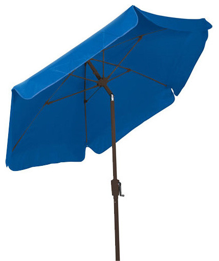 FiberBuilt Umbrellas 7.5 Foot Hexagonal Pacific Blue Champ Bronze Finish  outdoor umbrellas