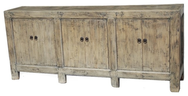 Large Natural Sideboard Buffet Cabinet Or Media Console - Farmhouse - Entertainment Centers And ...
