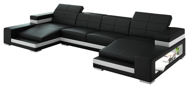 Aubrey Double Chaise Sectional Contemporary Sectional