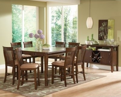 Steve Silver Montreal Counter Height Chairs - Dark Oak - Set of 2 modern-dining-sets