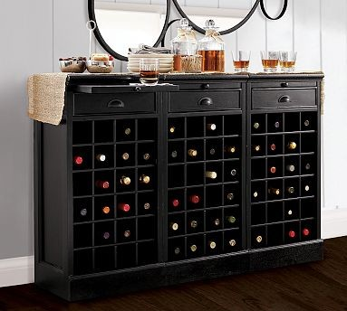 Modular Bar Buffet with 3 Wine Bases traditional buffets and sideboards