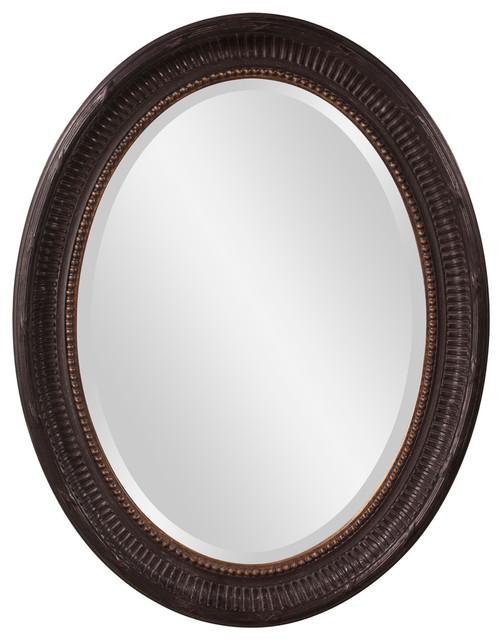 Howard Elliott Nero Oval Mirror contemporary-wall-mirrors