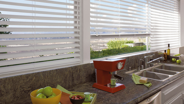EverWood® alternative wood blinds with Cordlock contemporary-window-blinds