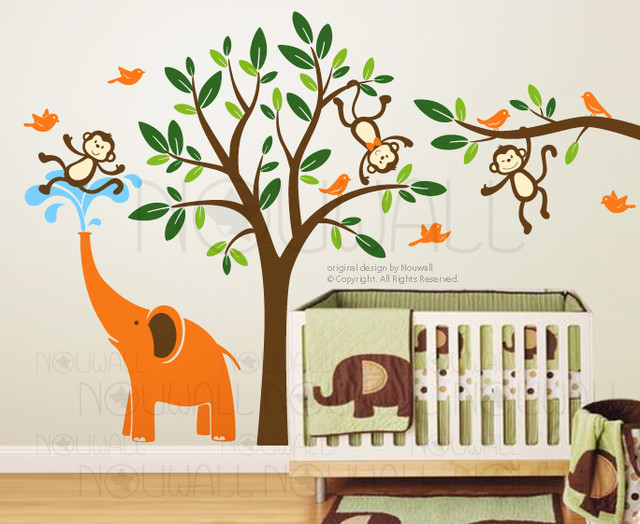 Kids wall decoration modern nursery decor other metro by designer playground - Wall decoration for nursery ...