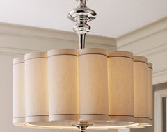 Global Views Scalloped Shade Chandelier traditional-lamp-shades