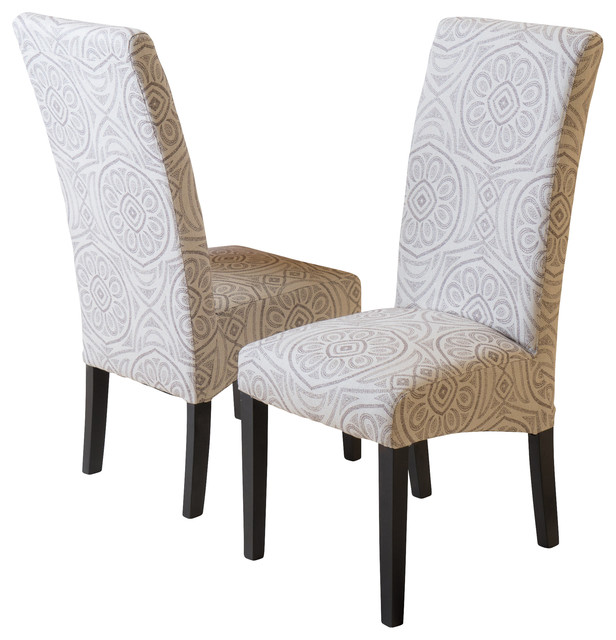 India geometric fabric dining chairs set of 2 black for Modern dining chairs india