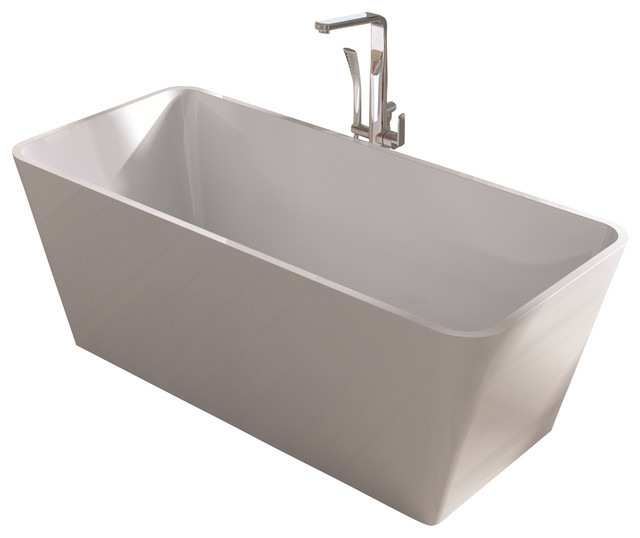 Stand Alone Bathtubs : White Stand Alone Resin Bathtub, White, Medium - Modern - Bathtubs ...