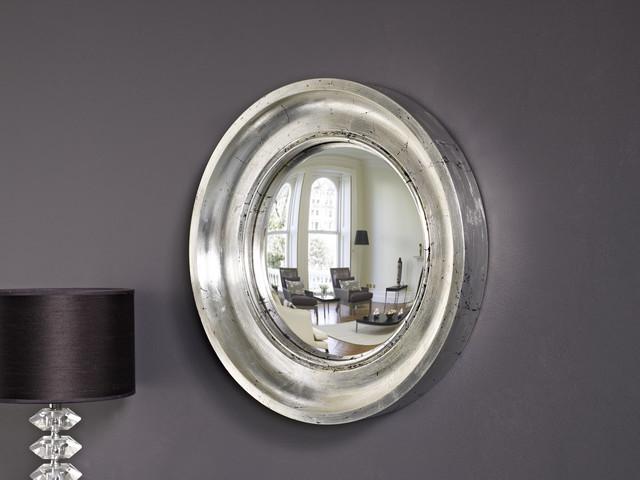 Cavetto 01 in silver leaf contemporary-mirrors