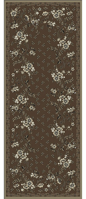 Woven Viscose Anemone Umber Runner Rug (2'2 x 5') contemporary-rugs