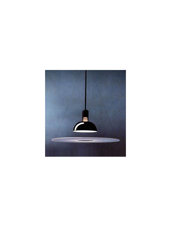 Frisbi Pendant Light By Flos Lighting - The Flos Frisbi Pendant Lamp designed by Achille Castiglioni is characterized by a flat plastic reflector disc that provides diffused and reflective light.