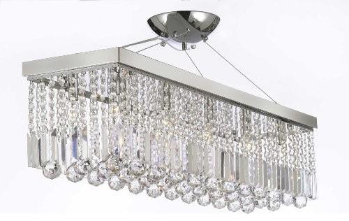 "chandelier Light with crystaldern ""Rain Drop"" chandelier Linear Pendant traditional-chandeliers"