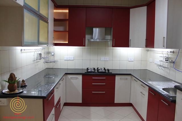 Villa in Bangalore contemporary-kitchen