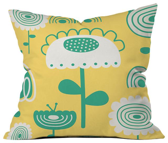 DENY Designs Gabriela Larios Sunny Garden Throw Pillow eclectic-decorative-pillows