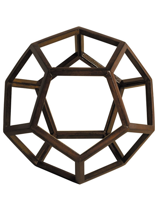 """Inviting Home - Platonic Figure - Heavenly Ether - Platonic figure - heavenly ether; 9"""" x 9"""" x 7-1/2""""H; The Element - Heavenly Ether; a Platonic figure of 12 pentagons (dodecahedron). From delicate pieces of wood skilled craftspeople hand construct these fragile forms truly resembling the beauty and harmony of nature's perfection."""