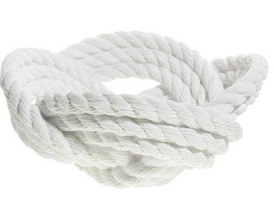 Areaware Knotted Rope Bowl, White -