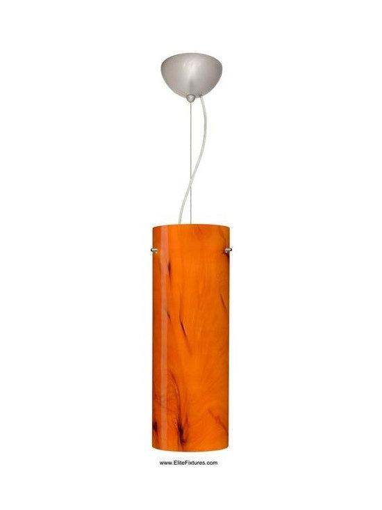 Besa Lighting 1KX-4128HB-SN One Light Nickel Down Mini Pendant -